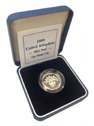 1989 Silver Proof One Pound Coin for sale